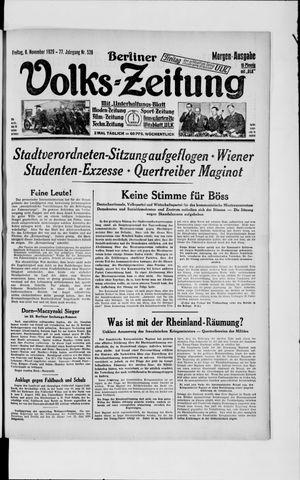 Berliner Volkszeitung vom 08.11.1929