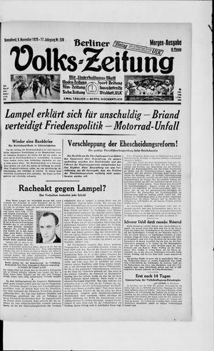 Berliner Volkszeitung vom 09.11.1929