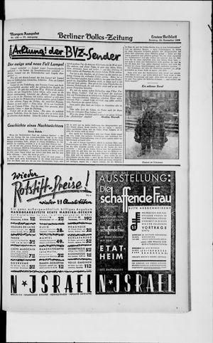 Berliner Volkszeitung vom 10.11.1929