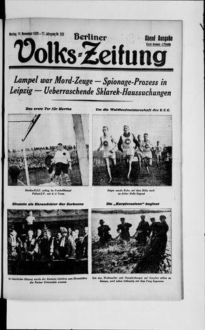 Berliner Volkszeitung vom 11.11.1929
