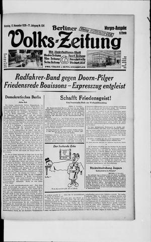 Berliner Volkszeitung vom 12.11.1929