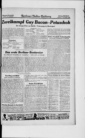 Berliner Volkszeitung vom 17.11.1929