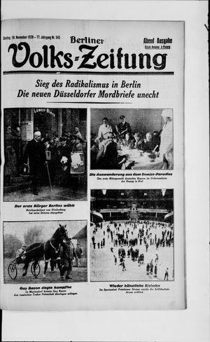 Berliner Volkszeitung vom 18.11.1929