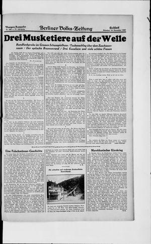 Berliner Volkszeitung vom 19.11.1929