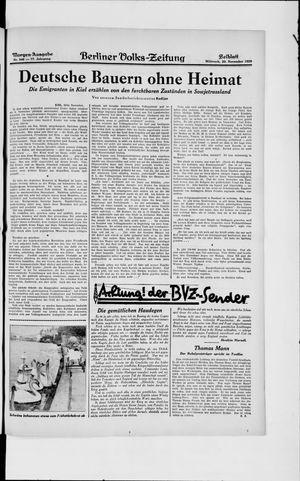 Berliner Volkszeitung vom 20.11.1929