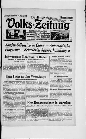 Berliner Volkszeitung vom 21.11.1929