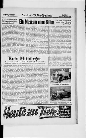 Berliner Volkszeitung vom 22.11.1929