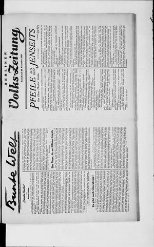 Berliner Volkszeitung vom 23.11.1929