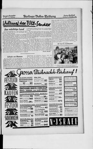 Berliner Volkszeitung vom 24.11.1929