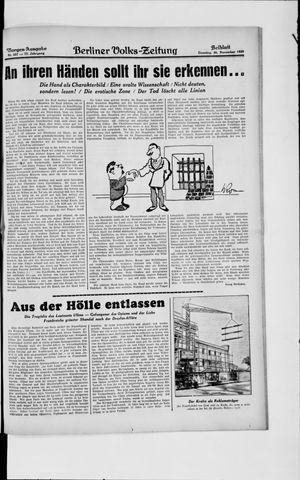 Berliner Volkszeitung vom 26.11.1929