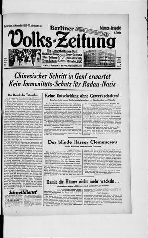 Berliner Volkszeitung vom 28.11.1929