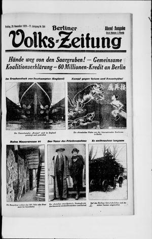 Berliner Volkszeitung vom 29.11.1929