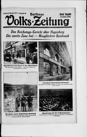 Berliner Volkszeitung vom 30.11.1929