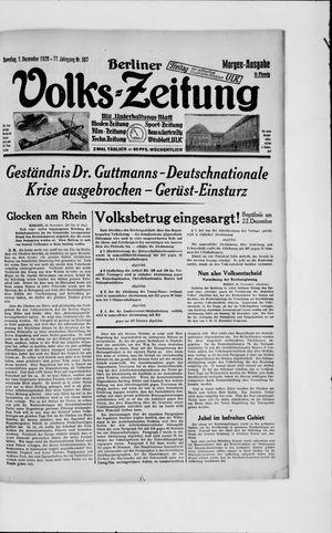 Berliner Volkszeitung vom 01.12.1929