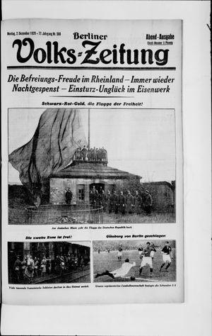 Berliner Volkszeitung vom 02.12.1929