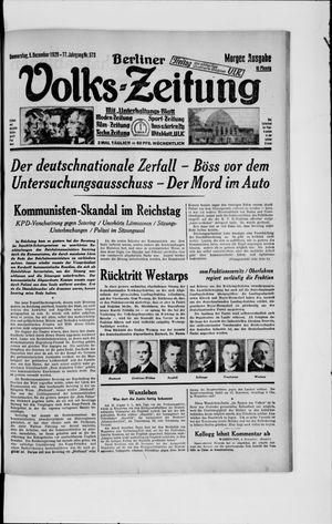 Berliner Volkszeitung vom 05.12.1929