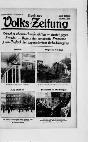 Berliner Volkszeitung vom 06.12.1929