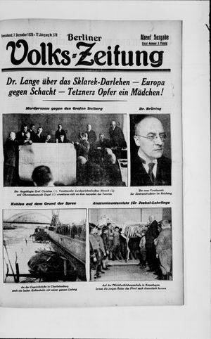 Berliner Volkszeitung on Dec 7, 1929