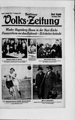 Berliner Volkszeitung vom 09.12.1929
