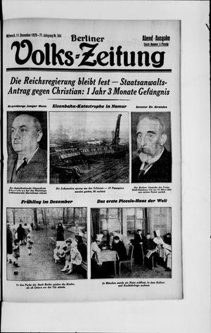 Berliner Volkszeitung vom 11.12.1929