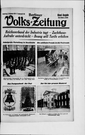 Berliner Volkszeitung vom 12.12.1929