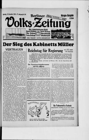 Berliner Volkszeitung vom 15.12.1929