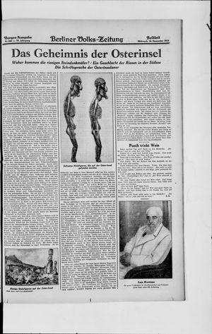 Berliner Volkszeitung vom 18.12.1929