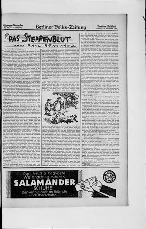 Berliner Volkszeitung vom 22.12.1929