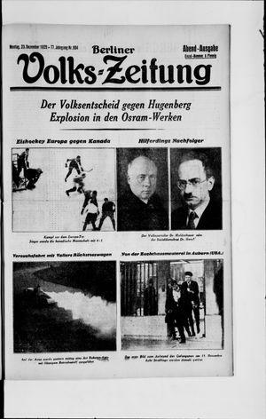 Berliner Volkszeitung vom 23.12.1929