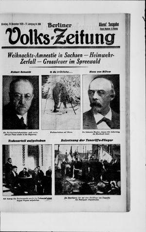 Berliner Volkszeitung vom 24.12.1929