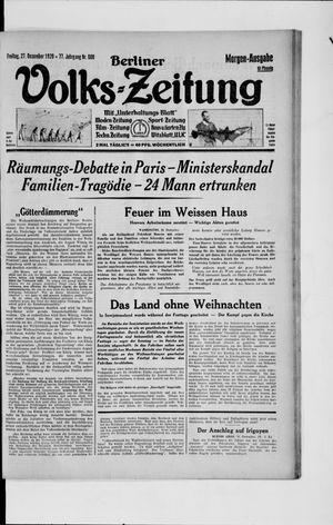 Berliner Volkszeitung vom 27.12.1929