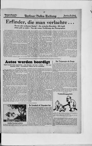 Berliner Volkszeitung vom 29.12.1929