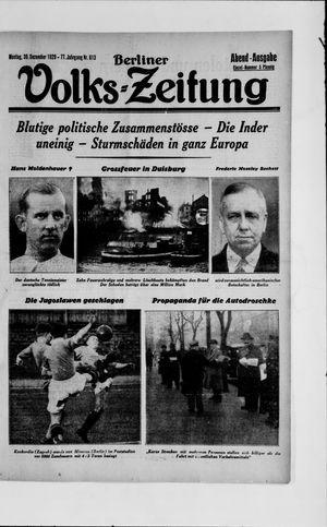 Berliner Volkszeitung vom 30.12.1929