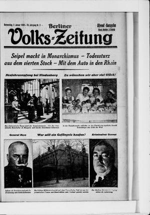 Berliner Volkszeitung vom 02.01.1930