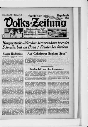 Berliner Volkszeitung vom 05.01.1930