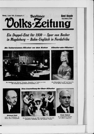 Berliner Volkszeitung vom 07.01.1930
