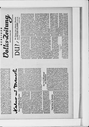 Berliner Volkszeitung vom 08.01.1930