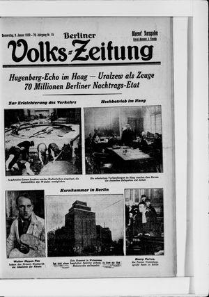 Berliner Volkszeitung vom 09.01.1930