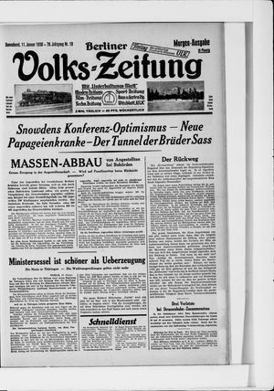 Berliner Volkszeitung vom 11.01.1930