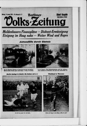 Berliner Volkszeitung vom 13.01.1930