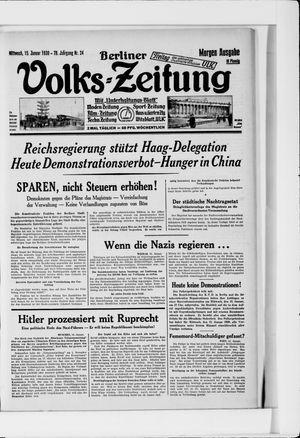 Berliner Volkszeitung vom 15.01.1930