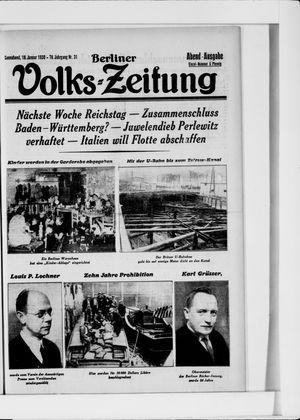 Berliner Volkszeitung vom 18.01.1930