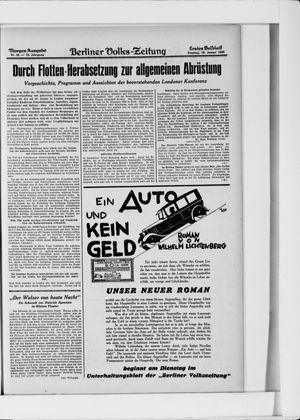 Berliner Volkszeitung on Jan 19, 1930