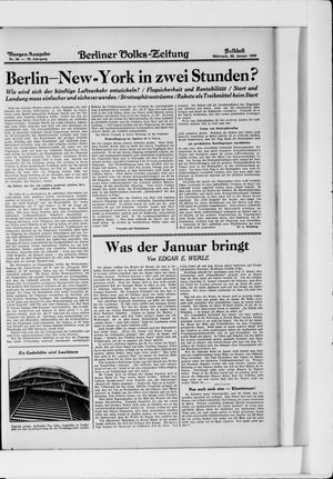 Berliner Volkszeitung vom 22.01.1930