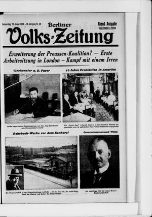 Berliner Volkszeitung vom 23.01.1930