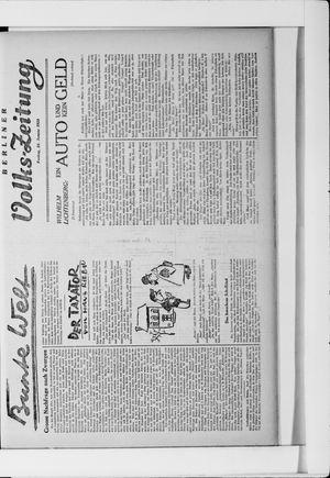 Berliner Volkszeitung vom 24.01.1930