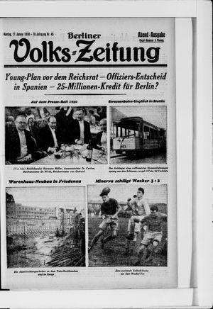 Berliner Volkszeitung vom 27.01.1930