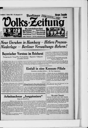 Berliner Volkszeitung vom 01.02.1930