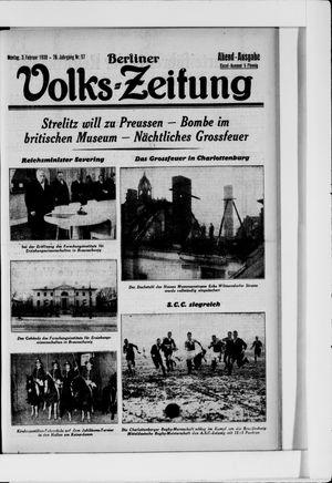 Berliner Volkszeitung vom 03.02.1930