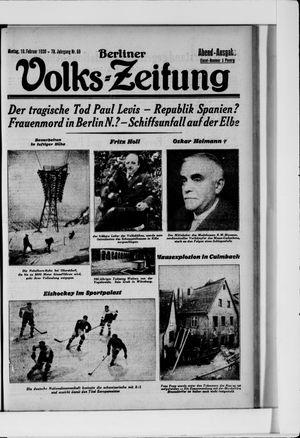 Berliner Volkszeitung vom 10.02.1930